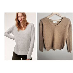 Aritzia Wilfred Free Wolter Waffle V neck Sweater